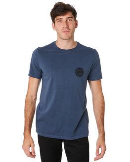SLATE BLUE MENS CLOTHING RIP CURL TEES - CTEJI91115