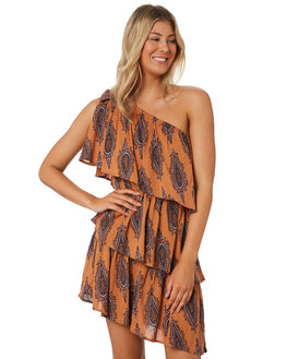 BRASS WOMENS CLOTHING TIGERLILY DRESSES - T391423BRS