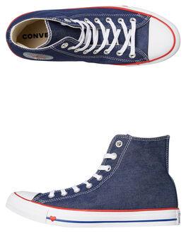 INDIGO WOMENS FOOTWEAR CONVERSE SNEAKERS - 163303IND. CONVERSE 1 Womens Chuck  Taylor All Star Denim Love High Shoe e1e2dacb4b28a