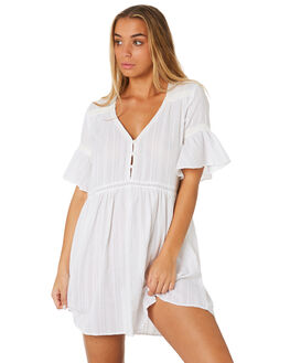 WHITE WOMENS CLOTHING RUSTY DRESSES - DRL0987WHT