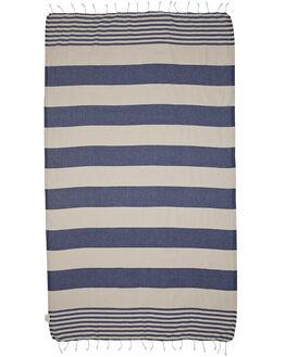NAVY BEIGE ACCESSORIES TOWELS MAYDE  - 15KIRRNBNVY