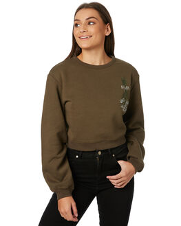 OLIVE WOMENS CLOTHING AFENDS JUMPERS - W182502OLI