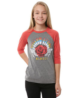 RAD RED KIDS GIRLS VOLCOM TEES - B35118Y0RAD