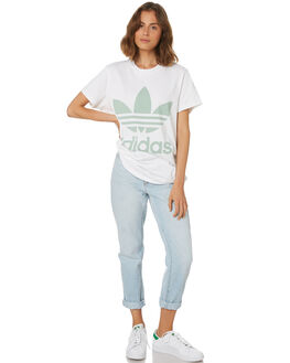 BLUSH GREEN WOMENS CLOTHING ADIDAS ACTIVEWEAR - DH4428WHT