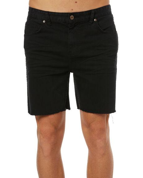 BLACK MENS CLOTHING GLOBE SHORTS - GB01716011BLK