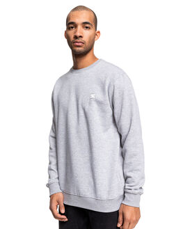 GREY HEATHER MENS CLOTHING DC SHOES JUMPERS - EDYFT03455-KNFH