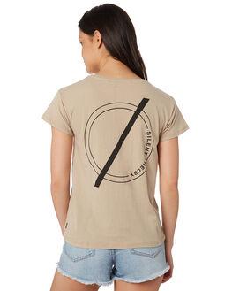 TAN WOMENS CLOTHING SILENT THEORY TEES - 6022047TAN