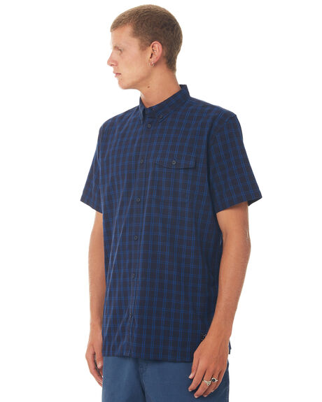 WASHED INDIGO MENS CLOTHING DC SHOES SHIRTS - EDYWT03178BSA0