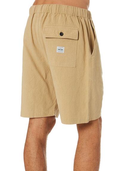 HEMP KHAKI MENS CLOTHING DEPACTUS SHORTS - D5211231HMPKH