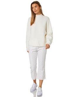 WARM WHITE WOMENS CLOTHING ZULU AND ZEPHYR KNITS + CARDIGANS - ZZ2425WWHT