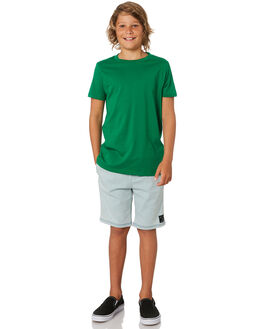 KELLY GREEN KIDS BOYS AS COLOUR TOPS - 3006-KGRN