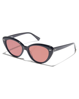 BLACK ROSE WOMENS ACCESSORIES EPOKHE SUNGLASSES - 0802-BLKPORSEBLKRS
