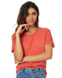 FIERY RED WOMENS CLOTHING SILENT THEORY TEES - SS4083037FREDW