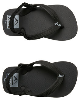 BLACK KIDS TODDLER BOYS REEF FOOTWEAR - 200BLA