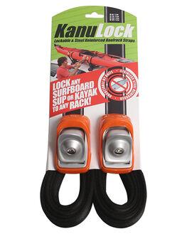 BLACK ORANGE BOARDSPORTS SURF KANULOCK BOARD RACKS - KNLT-33M-11FBLKOR