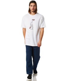 WHITE MENS CLOTHING PASS PORT TEES - BOUQUETWHT