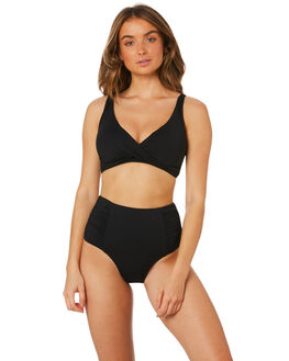 BLACK WOMENS SWIMWEAR SEA LEVEL BY NIPTUCK BIKINI TOPS - SL3110PBLK