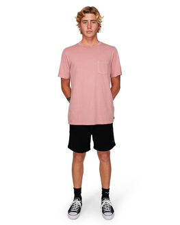 DUSTY ROSE MENS CLOTHING RVCA TEES - RV-R181066-DU4