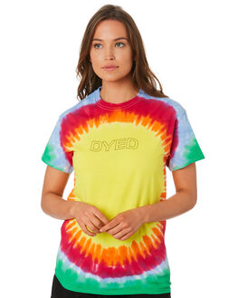 MULTI WOMENS CLOTHING DYED TEES - DY1001BDTIDYE