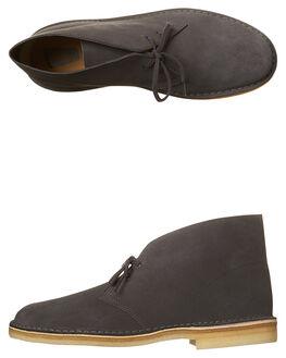 CHARCOAL MENS FOOTWEAR CLARKS ORIGINALS BOOTS - SS26118-564M