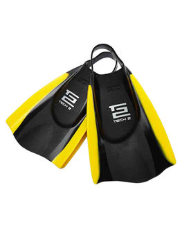 BLACK YELLOW SURF BODYBOARDS HYDRO ACCESSORIES - TTWOBLY