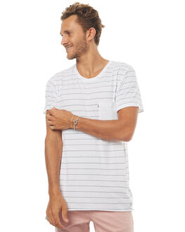 WHITE MENS CLOTHING ACADEMY BRAND TEES - 18S485WHT