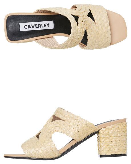 NATURAL WOMENS FOOTWEAR CAVERLEY HEELS - 192S053SNAT