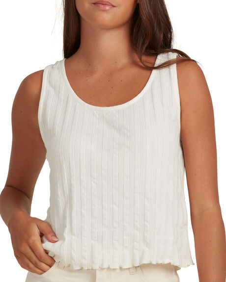 NATURAL WOMENS CLOTHING QUIKSILVER SINGLETS - EQWKT03088-WZA0