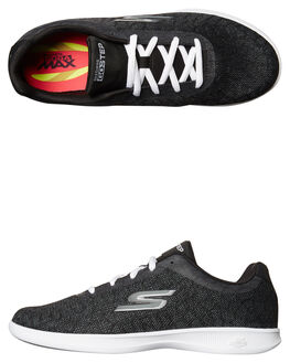 BLACK WHITE WOMENS FOOTWEAR SKECHERS SNEAKERS - 14486BKW
