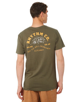 OLIVE MENS CLOTHING RHYTHM TEES - OCT18M-PT07-OLI