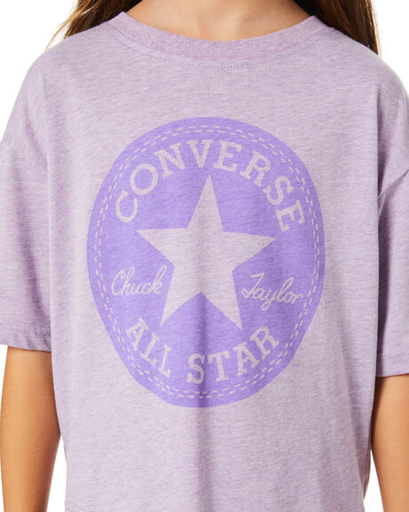 VIOLET STAR HEATHER KIDS GIRLS CONVERSE TOPS - R46A327P6W