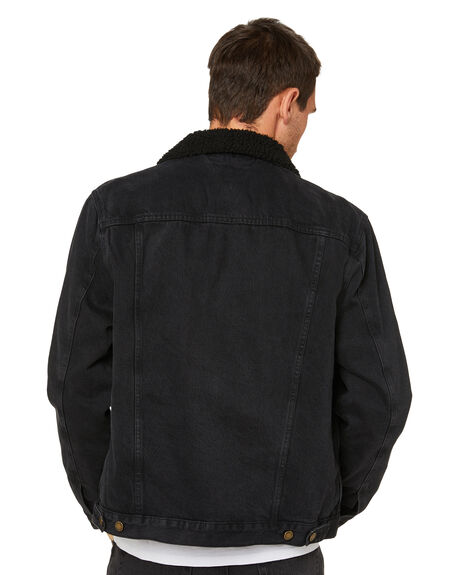 WASHED BLACK MENS CLOTHING ROLLAS JACKETS - 16244006