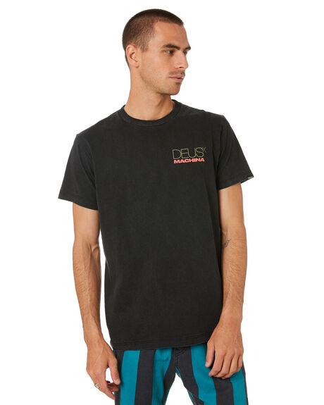 BLACK MENS CLOTHING DEUS EX MACHINA TEES - DMS91313CBLK