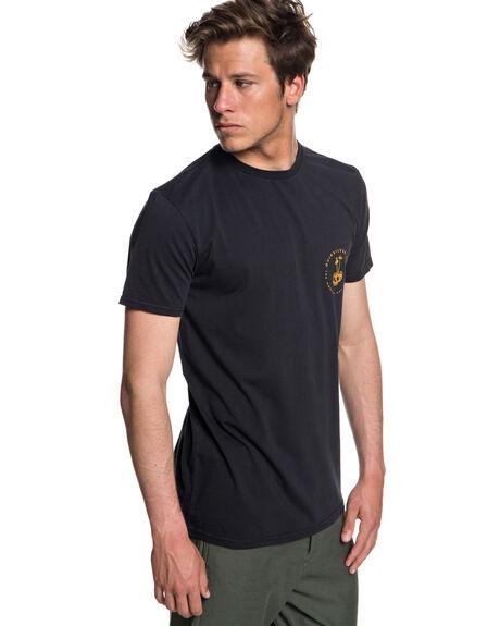 BLACK MENS CLOTHING QUIKSILVER TEES - EQYZT05010KVJ0