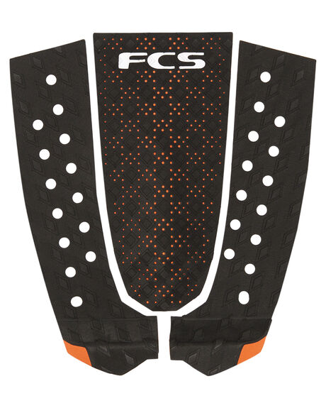 BLACK BURNT ORANGE SURF HARDWARE FCS TAILPADS - 26825BKOR1