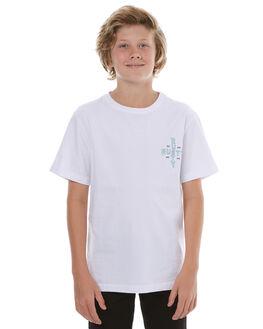 WHITE KIDS BOYS RUSTY TEES - TTB0549WHT