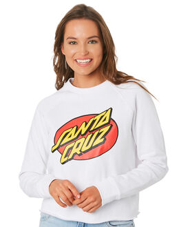 WHITE WOMENS CLOTHING SANTA CRUZ JUMPERS - SC-WFC9916WHI