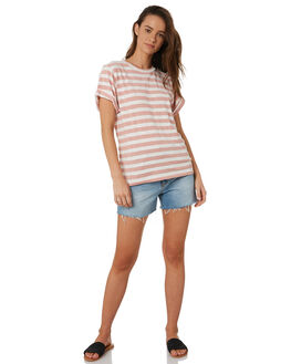 BLUSH WHITE STRIPE WOMENS CLOTHING SWELL TEES - S8184002BLWST