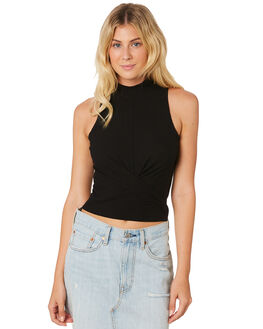 BLACK WOMENS CLOTHING JORGE FASHION TOPS - 8300046BLK