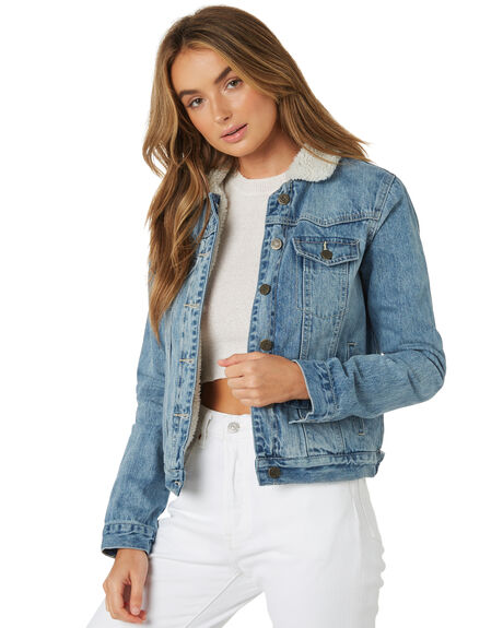 MID BLUE WOMENS CLOTHING THE HIDDEN WAY JACKETS - H8182381MIDBL