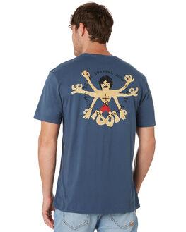 VINTAGE BLUE MENS CLOTHING ALOHA ZEN TEES - ALZBESURFVNBLU
