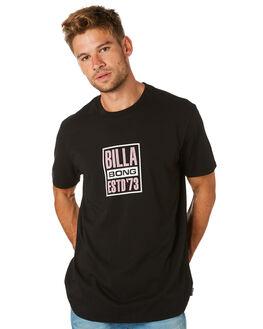 BLACK MENS CLOTHING BILLABONG TEES - 9595008BLK