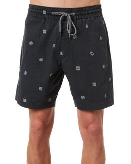 NEW BLACK MENS CLOTHING VOLCOM SHORTS - A1011805NBK