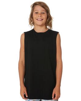 BLACK KIDS BOYS AS COLOUR TOPS - 3010-BLK