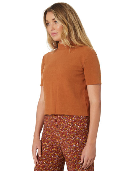 RED RUST WOMENS CLOTHING THE HIDDEN WAY FASHION TOPS - H8189148REDRS