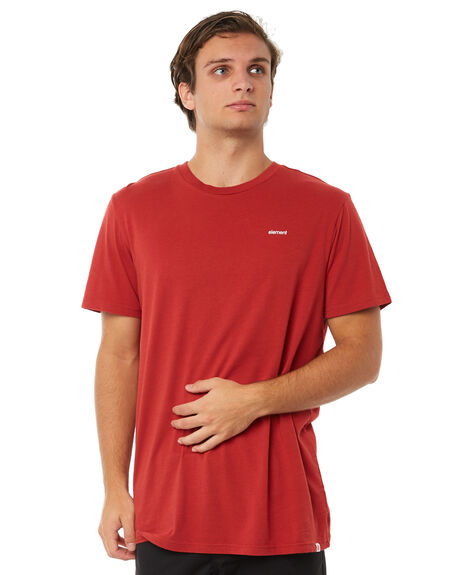 RED MENS CLOTHING ELEMENT TEES - 174031RED