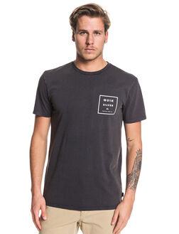 BLACK MENS CLOTHING QUIKSILVER TEES - EQYZT05419-KVJ0