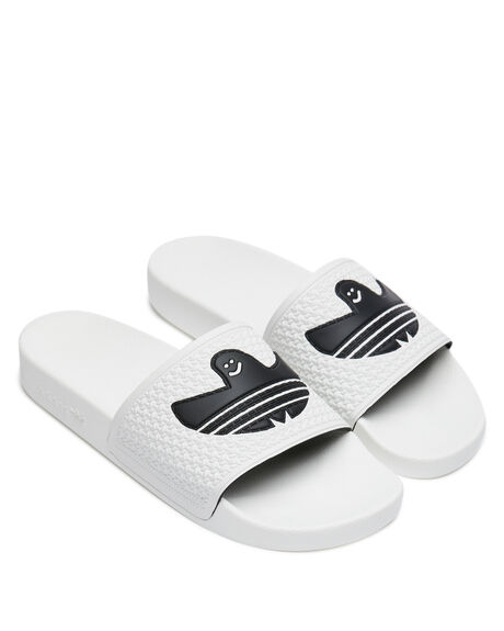 WHITE MENS FOOTWEAR ADIDAS SLIDES - FY6848FWHT