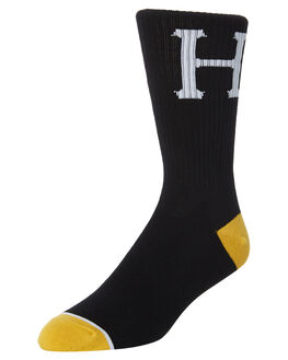 BLACK MENS CLOTHING HUF SOCKS + UNDERWEAR - SK00250-BLACK