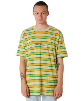 YELLOW MENS CLOTHING STUSSY TEES - ST087100YLLW